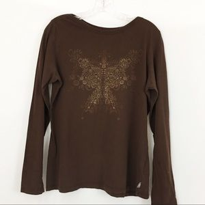 The North Face Long Sleeve Brown Top